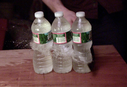 Slow-Motion Video: We Slice Through Bottles and Cans