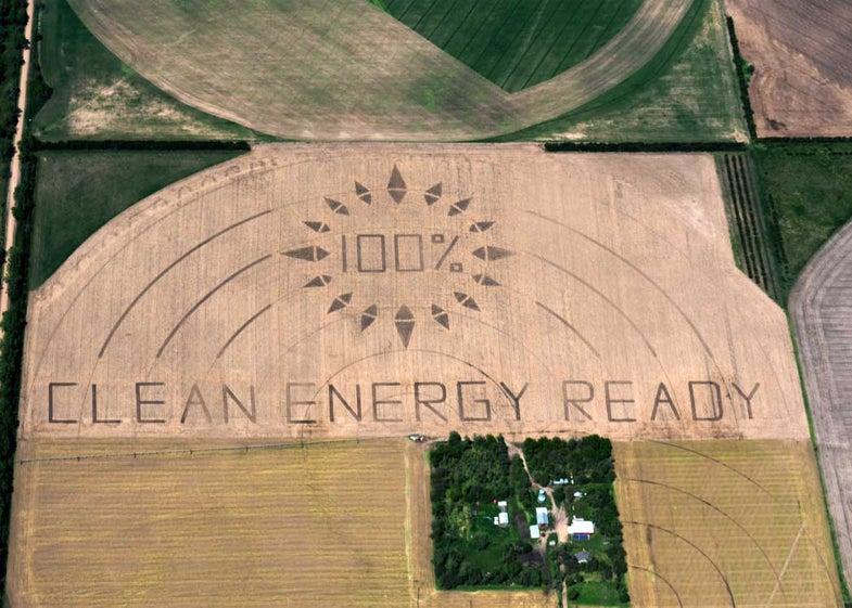 aerial crop art keystone pipeline