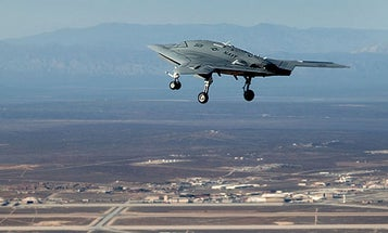 The Navy's X-47B Carrier-Capable Stealth UAV Makes its First Flight