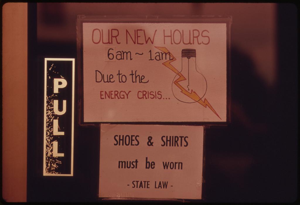 Restaurant closed energy crisis