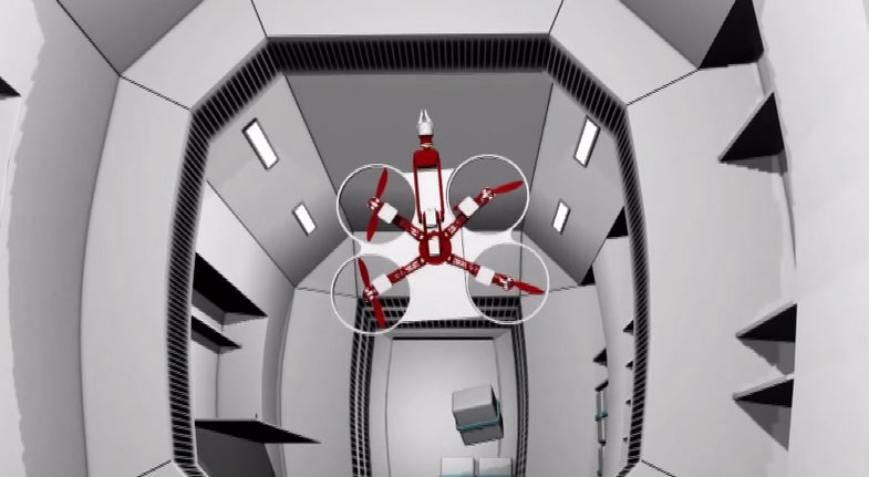 Watch This Zero G NASA Drone Concept Fly And Climb Through The Space Station