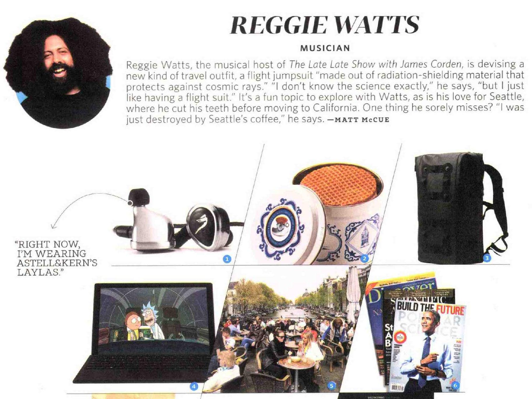 Reggie Watts Reads 'Popular Science' On Planes