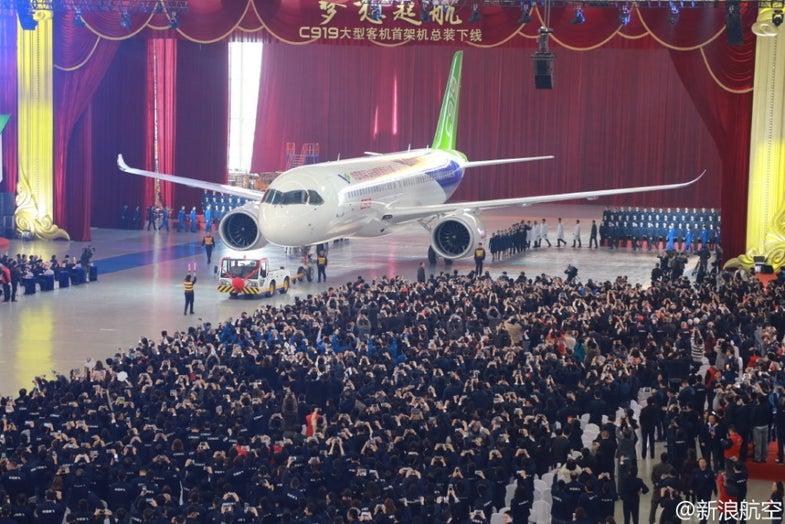 C919 Zhuhai 2016 China COMAC jetliner