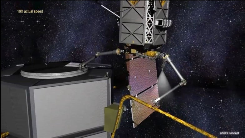 DARPA Video Shows Off Satellite-Scavenging Space Robot Tech