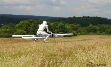 Watch A Robot Ride A Hovercycle