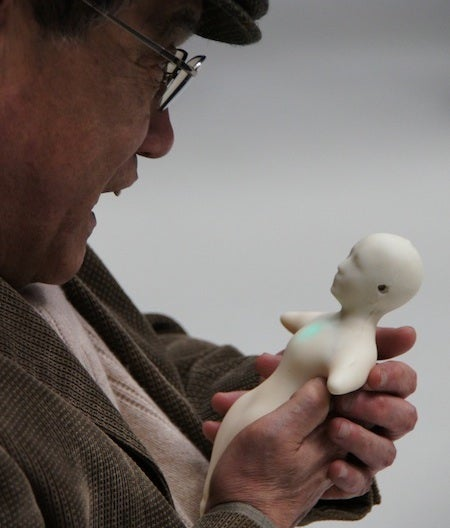 Video: Squishy Larval Human From Japan Could Be Your Next Cellphone