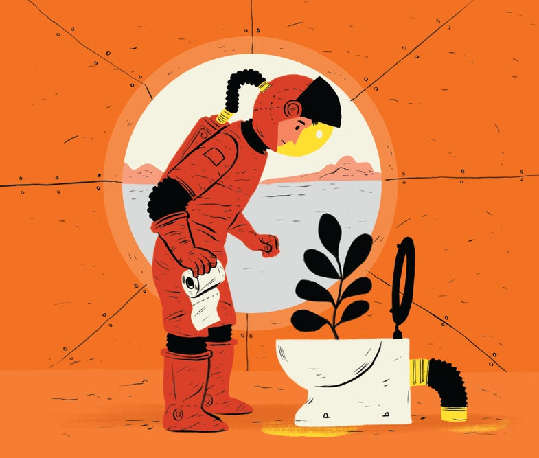 Could you fertilize Martian crops with human poop?