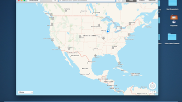 Your standard Maps interface