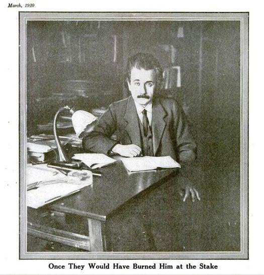 Albert Einstein: March 1920
