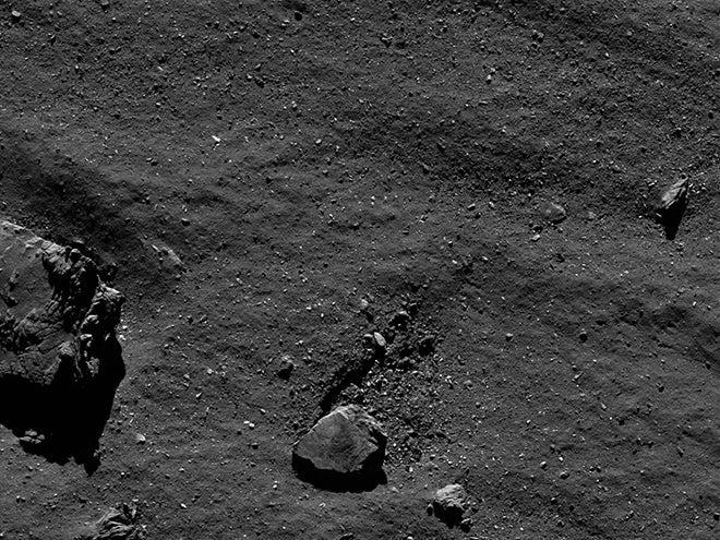rosetta closeup of comet