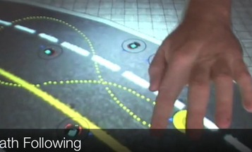 Use Microsoft Surface to Control a Swarm of Robots With Your Fingertips