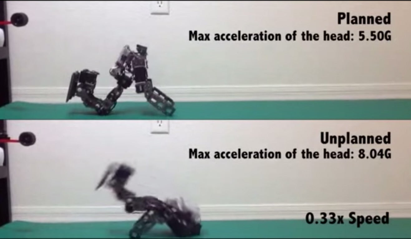 Researchers Teach Robots To Fall Over Gracefully When Shoved
