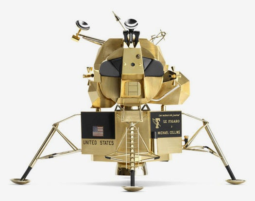 A Solid-Gold Miniature Replica Of Apollo 11, Because Why Not?