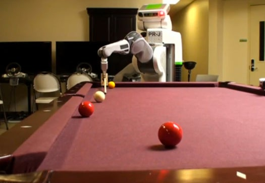 Video: Willow Garage Robot Learns How to Play Pool in Just One Week