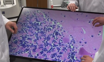 Video: Turning A Massive Touchscreen Display Into a Multitouch Microscope