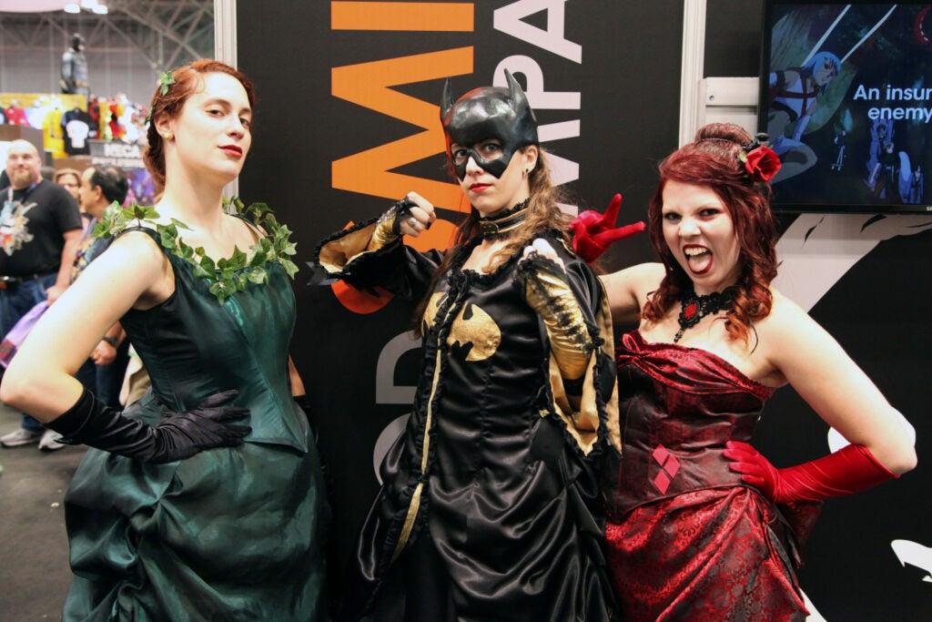 A trio of renaissance Batman characters