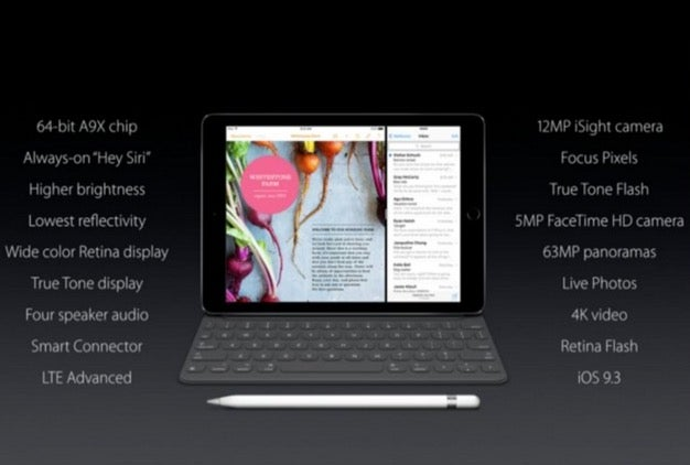 The new features of the 9.7-inch iPad Pro.
