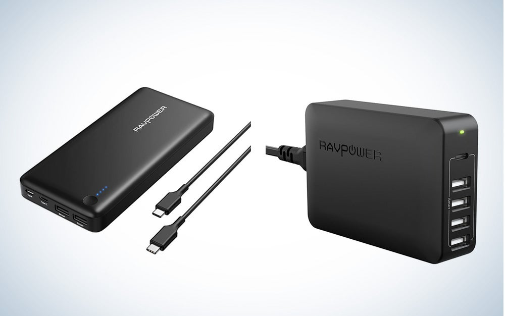 RAVPower Power bank and wall charger