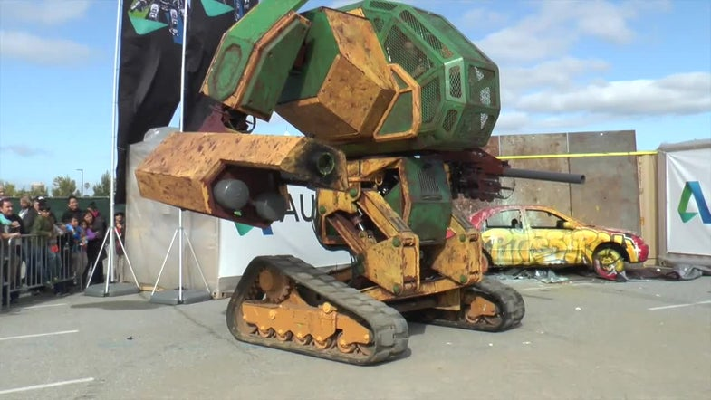 Real-Life Giant Fighting Robots? Yes Please!