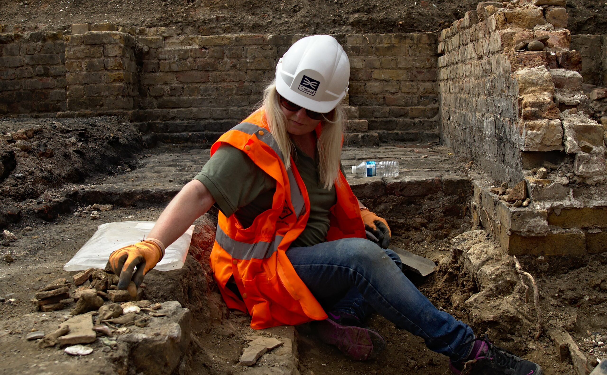 Archeologist working
