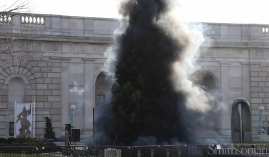 Say Goodbye To Christmas By Watching This Giant Tree Explode