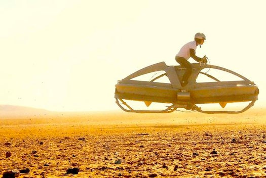 Video: A Real Working Hoverbike Zooms Across the Desert