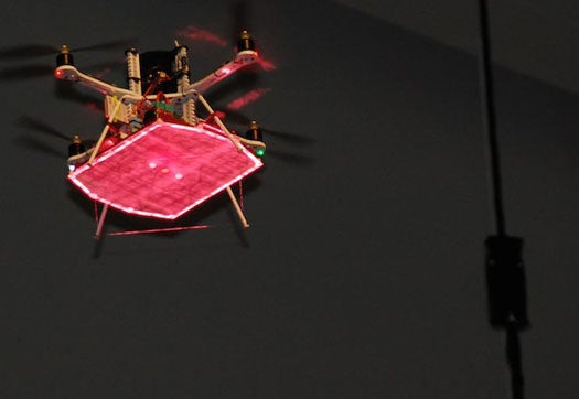 Video: LaserMotive's Laser-Powered Quadrocopter Hovers for 12 Hours Straight