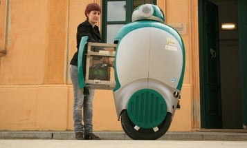 Dustbot Comes When You Call It, to Pick Up Your Garbage and Take It Away