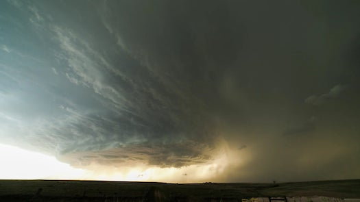 A Beautiful Timelapse Video Of A Rotating Thunderstorm In Texas