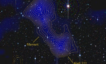 In a Cosmology Breakthrough, Astronomers Measure a Filament of Dark Matter