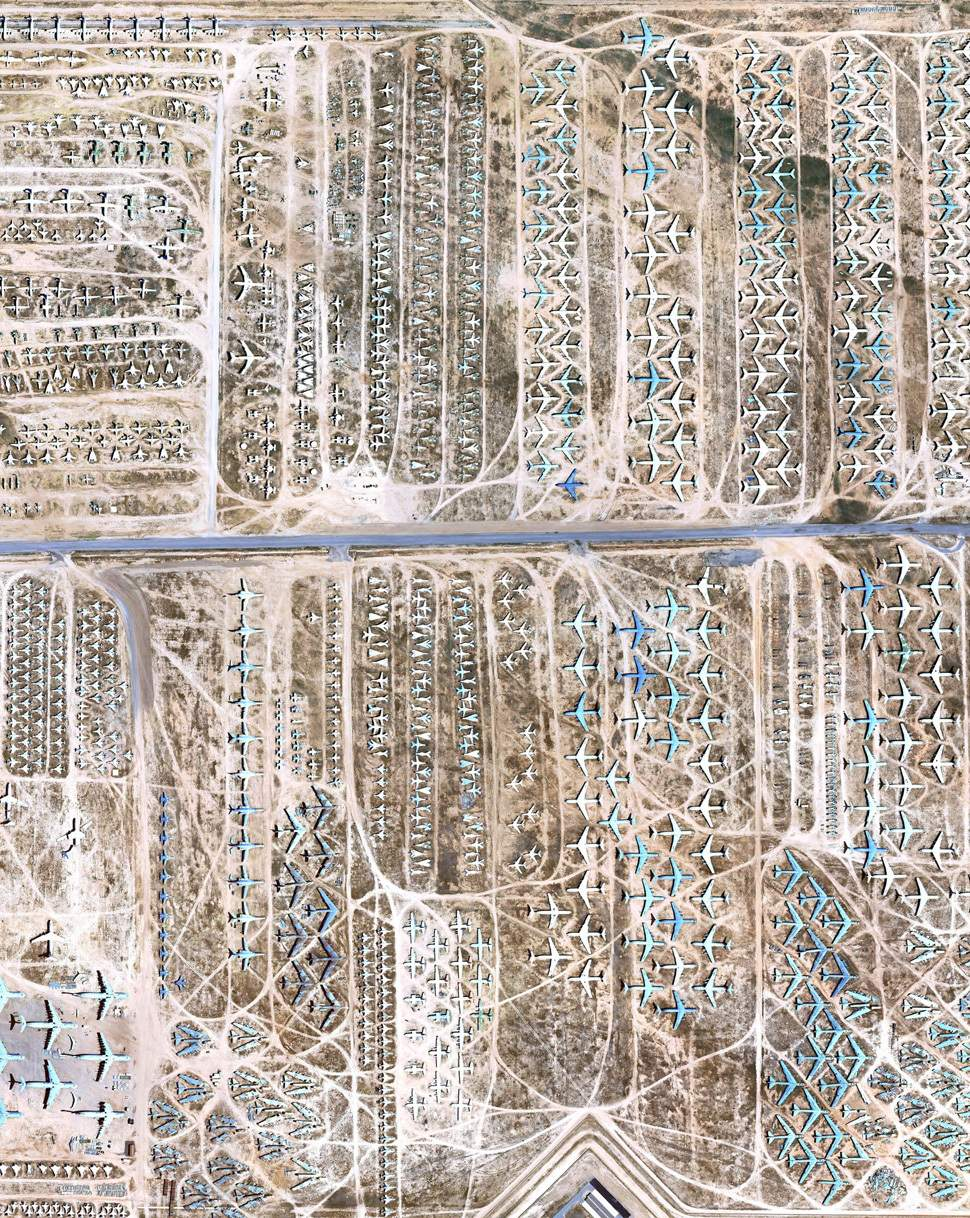 The World's Largest Airplane Graveyard in High Resolution, Now On Google Maps