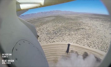 Watch Blue Origin's Reusable Rocket Land For The Third Time, From The Rocket's POV