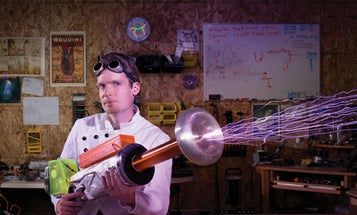 You Built What?!: A Tesla Coil Gun That Produces Foot-Long Sparks