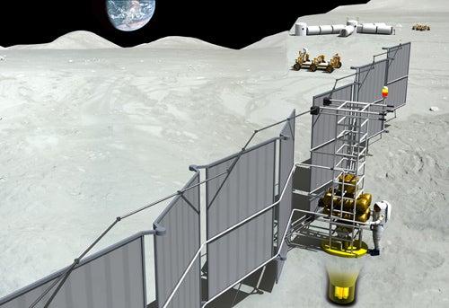 Nuclear Moon Bases