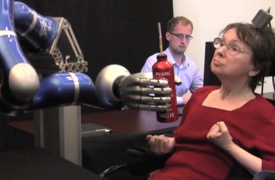 Video: In Breakthrough Study, Paralyzed Patients Move a Robotic Arm With Their Own Thoughts