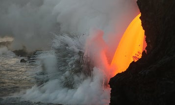 A lava faucet in Hawaii, a bat-like robot, and other amazing images of the week