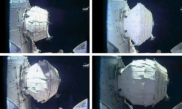 This Is What It Looks Like When You Inflate A Habitat On The Space Station
