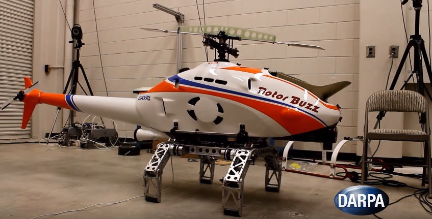 DARPA Put Robot Legs On A Helicopter Drone