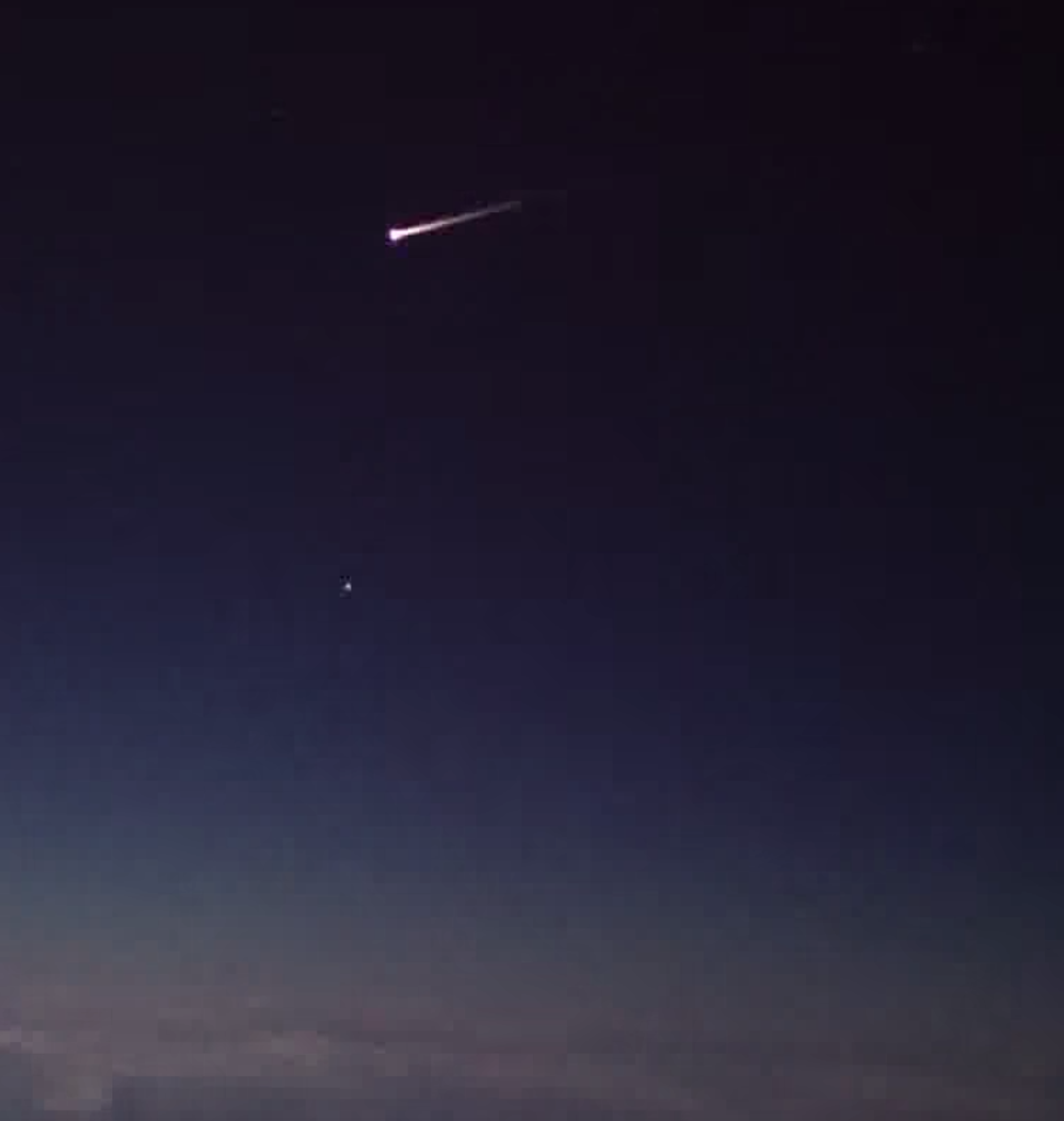 Watch An Uncrewed Spaceship Burn Up In The Earth's Atmosphere