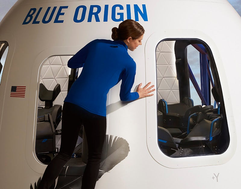 Peek inside Blue Origin's capsule for space tourists