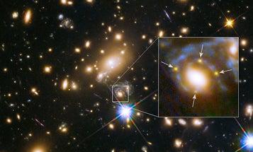 Gravitational Lens Splits Supernova's Light 4 Different Ways