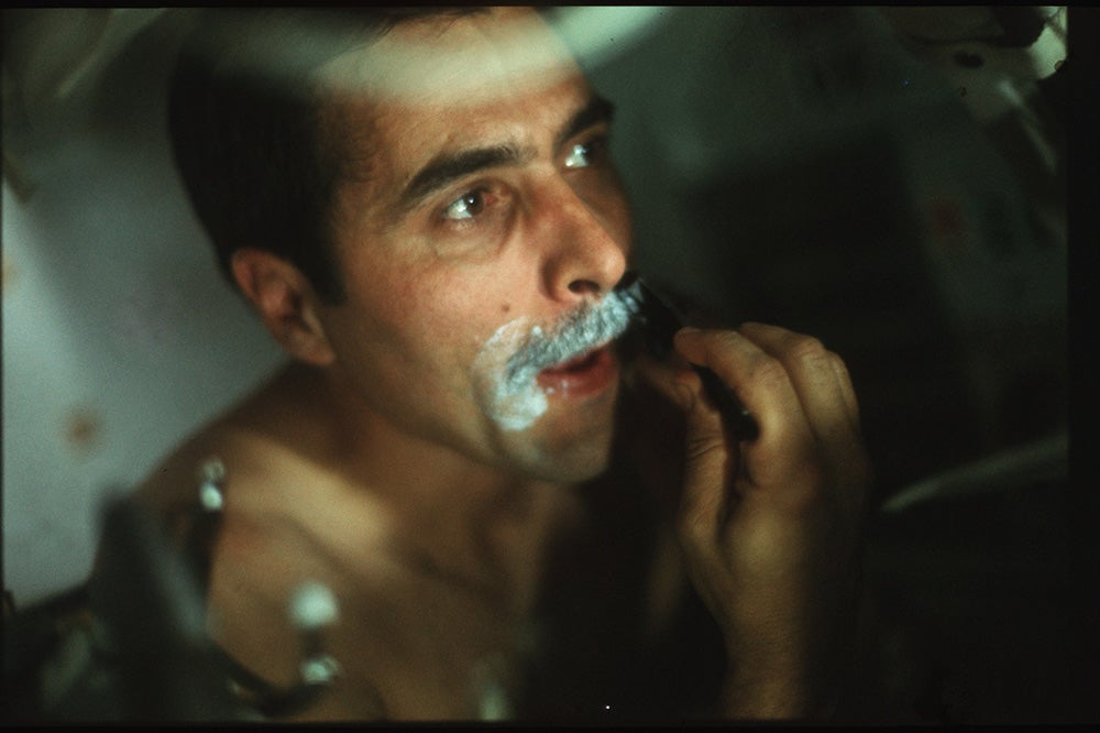 shaving in space