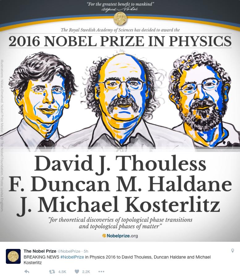 2016 physics nobel prize winners