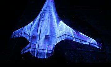 Big Pic: Fluorescent Oil Swirls Over An Experimental Aircraft
