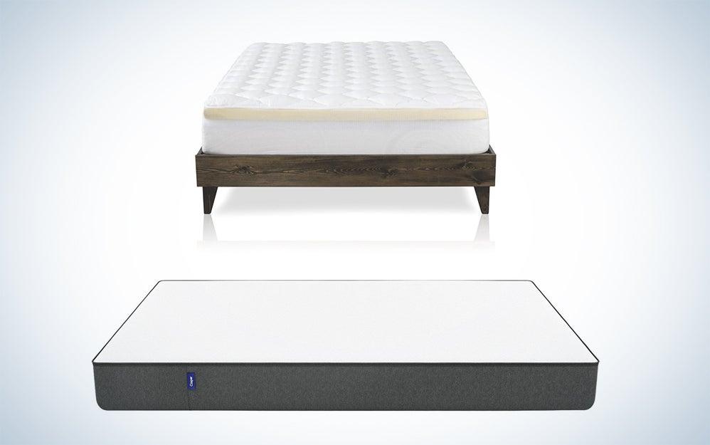 Casper mattresses and a mattress topper