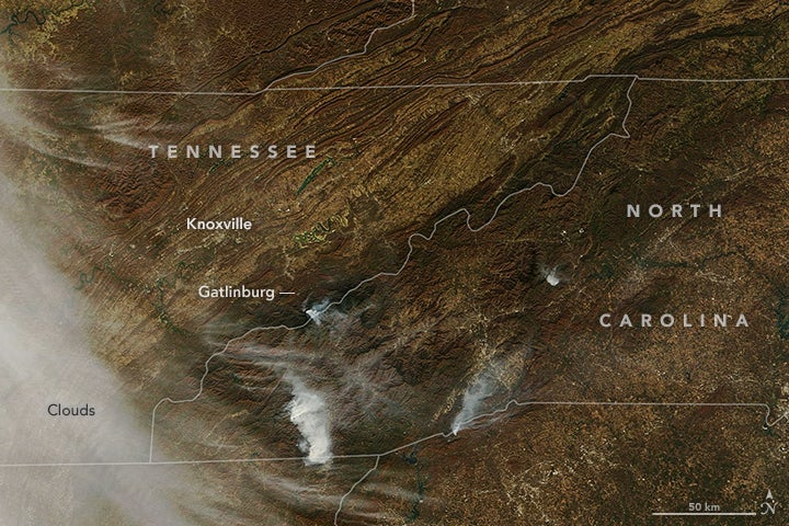 Why wildfires are suddenly ravaging the Southeast