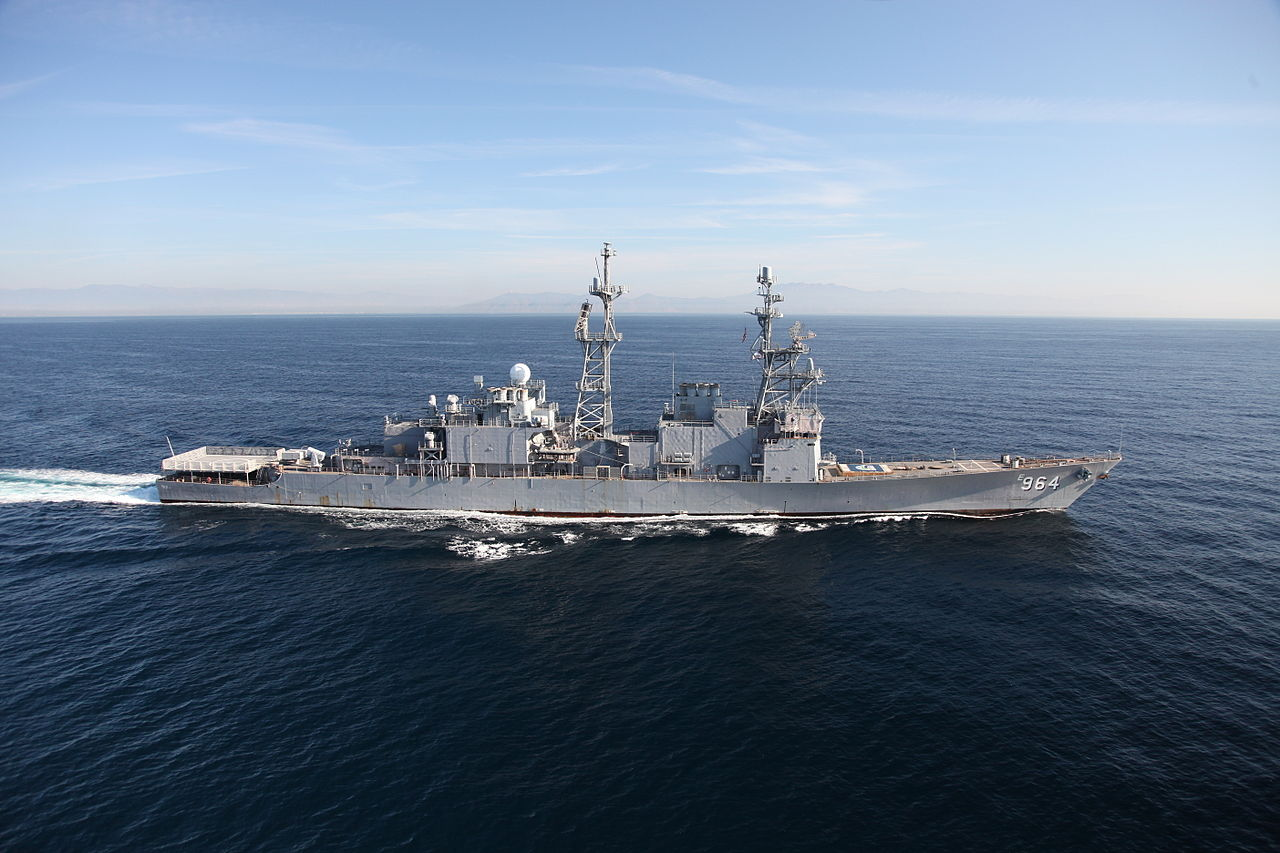 Decommissioned Spruance-class destroyer Paul F. Foster