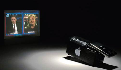 An iPod Video Projector