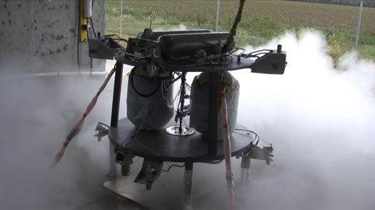 NASA's Next-Gen Robotic Lunar Lander Prototype Fires Up Its New Propulsion System