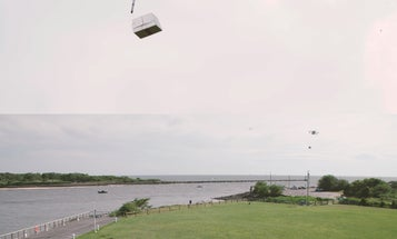 Watch The First-Ever Drone Delivery From Ship To Land